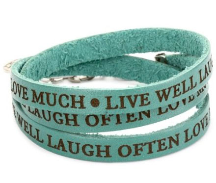 "Dillon Rogers ""It's A Wrap"" Live Well Teal Bracelet"