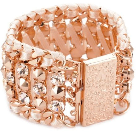 "LK Designs ""Summer Breeze"" Rose Gold Colored Crystal Bracelet"