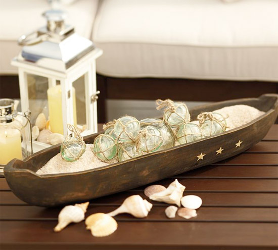 Pottery Barn Wooden Canoe