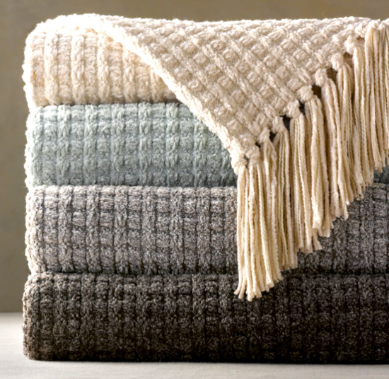 Restoration Hardware Braided Throw