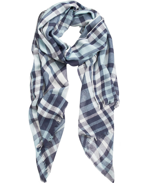 Armand Diradourian Madras Plaid Stole