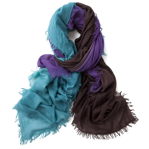 Bajra Ombre Wool Scarf in Teal