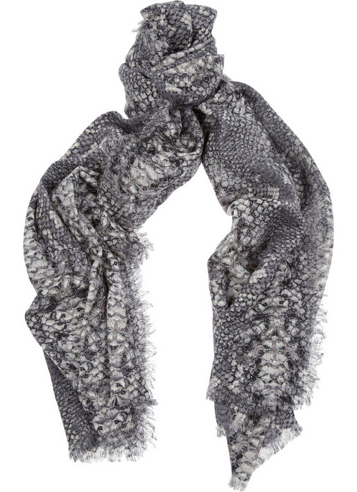 Marc by Marc Jacobs Python-print wool scarf