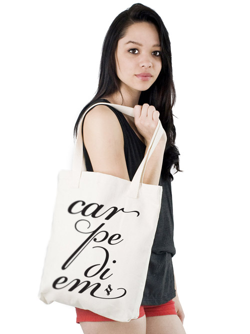 Carpe Diem Canvas Tote