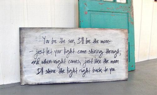 Wood Sign Distressed Handwritten Love Letter by PamelaJoyceDesigns