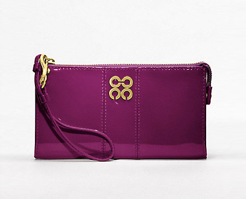 Coach Julia Patent Zippy Wallet