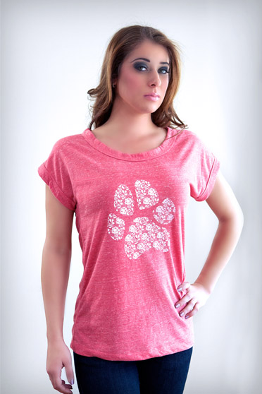 RIC by Stacey Lauren Lace Paw Boat Neck Tee