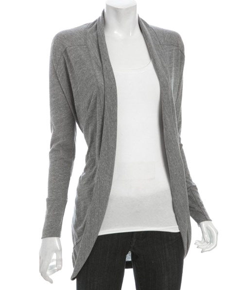 Fluxus Heather Grey Jersey 'Calloway' Cocoon Cardigan