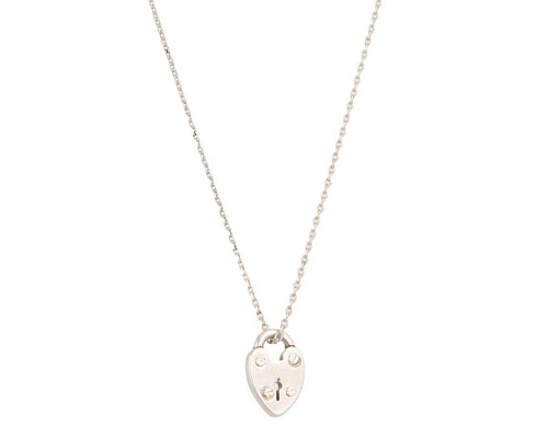Fossil Delicate Heart Locket Necklace