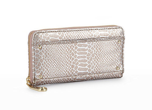 Steve Madden Penny Snake Print Zip-Around Wallet