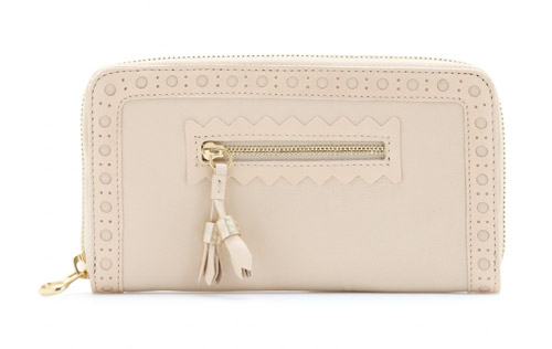 See by Chloé Hilo Brogued Leather Wallet