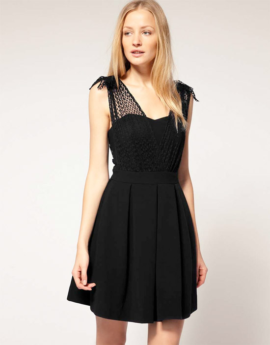 Whistles Melissa Dress with Net Overlay