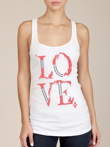 LOVE Tank Top in White
