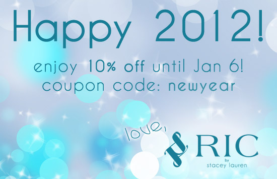 Happy New Year Sale at RIC by Stacey Lauren