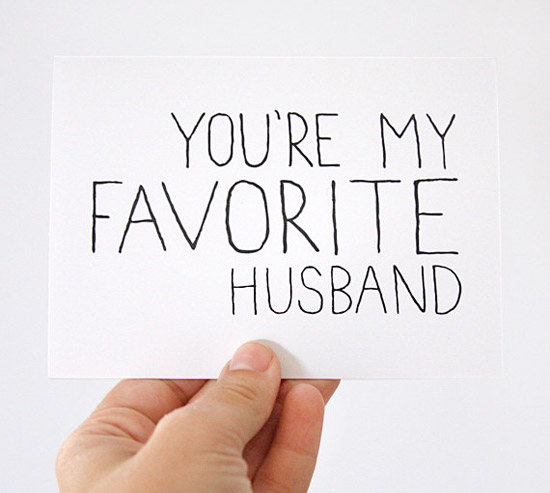 You're My Favorite Husband Valentine's Card