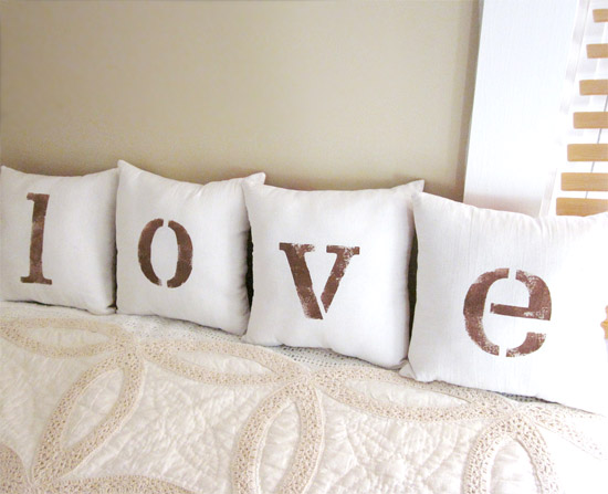 L-O-V-E Pillows