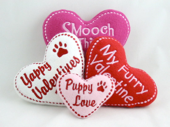 Valentine Dog Heart Toys