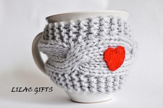 Red Heart Mug Cozy