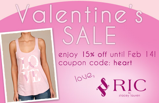 Valentine's Day Sale at RIC by Stacey Lauren